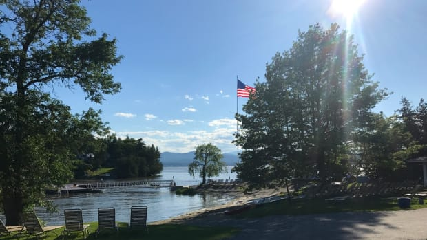 gorgeous views of Lake Champlain at the Basin Harbor beach