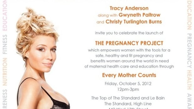 Tracy Anderson's 'The Pregnancy Project' Benefiting Every Mother Counts