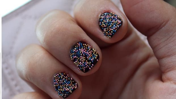 Colored Caviar Manicure
