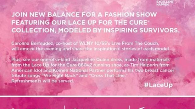 New Balance Lace Up for the Cure Fashion Show NYC