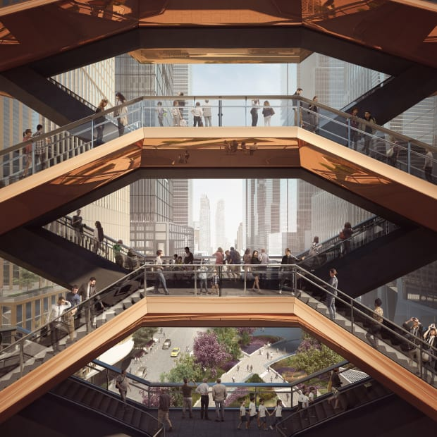 Upper Level View Through the Vessel - courtesy of Forbes Massie-Heatherwick Studio