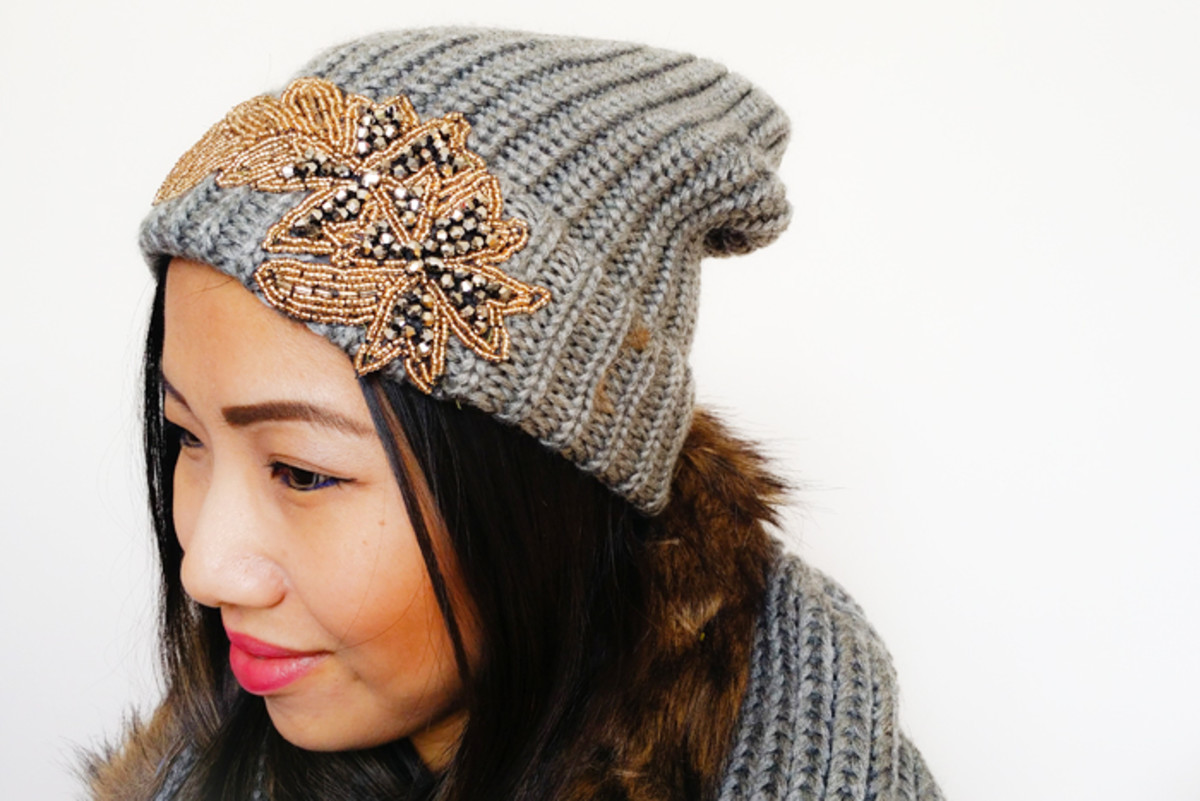 DIY Joe Fresh Fur Trimmed Infinity Scarf and Embellished Hat from mylittlesecrets.ca