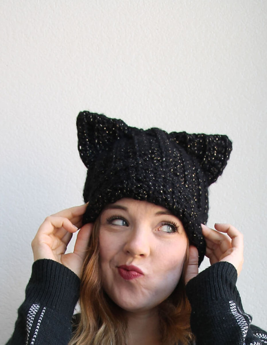 Black Cat Slouch Hat from persialou.com