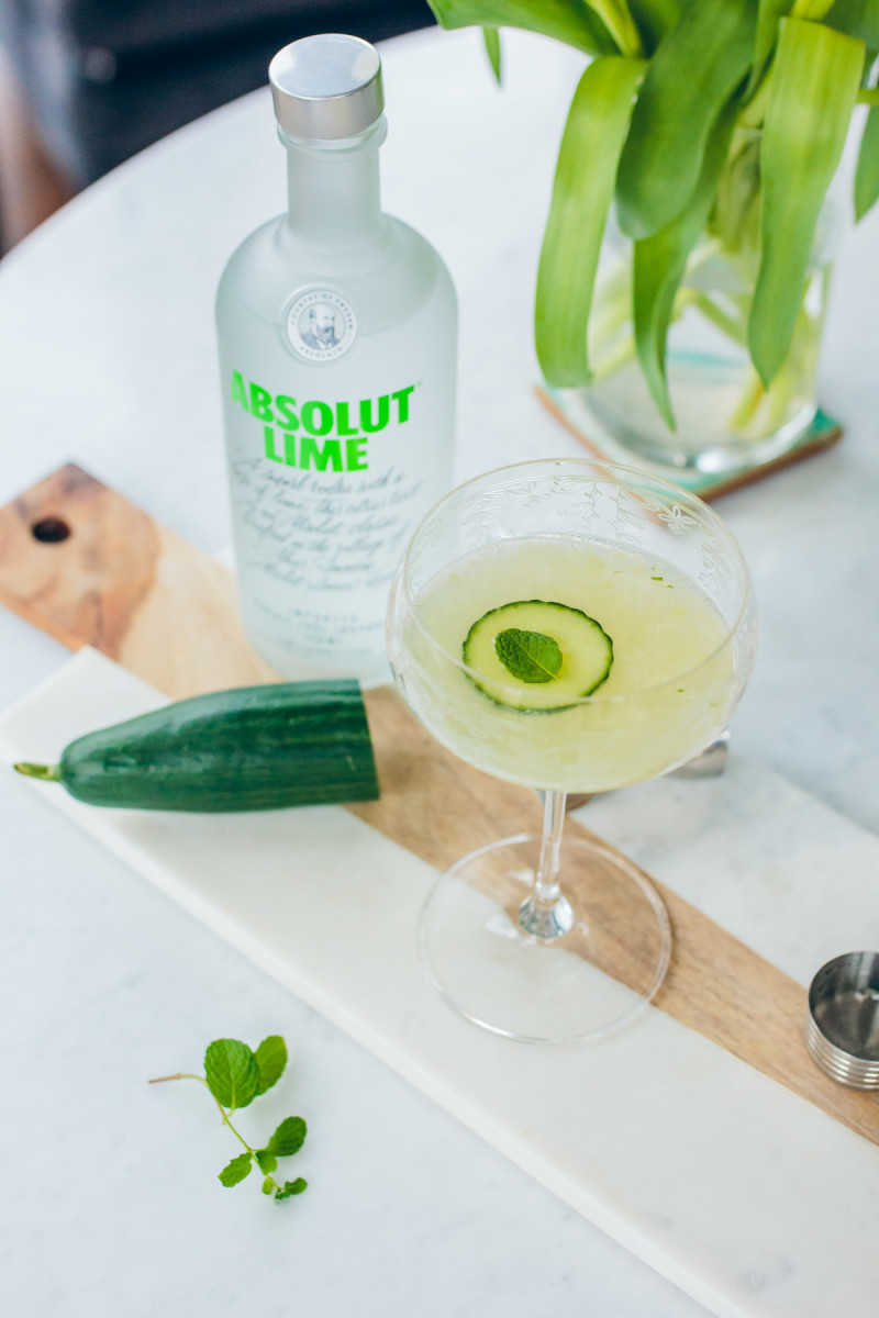 Cucumber, Lime & Absolute via The Fox and She