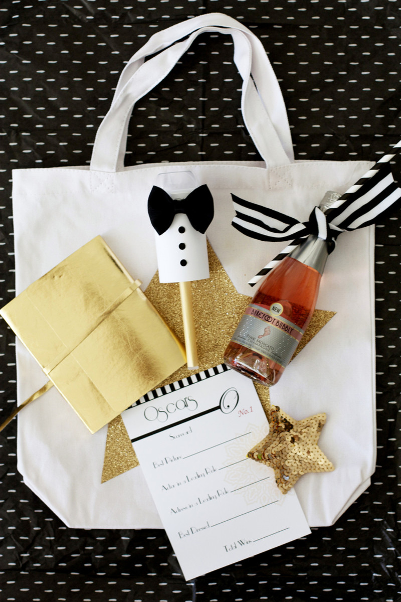 DIY Oscar Swag Bag via Kristi Murphy