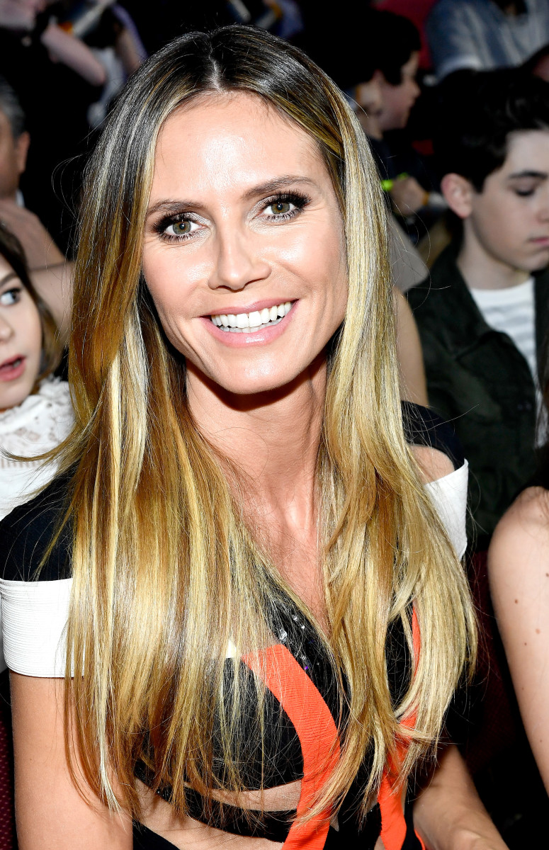 Glamamom Heidi Klum in the audience. Photo Credit: Getty Images