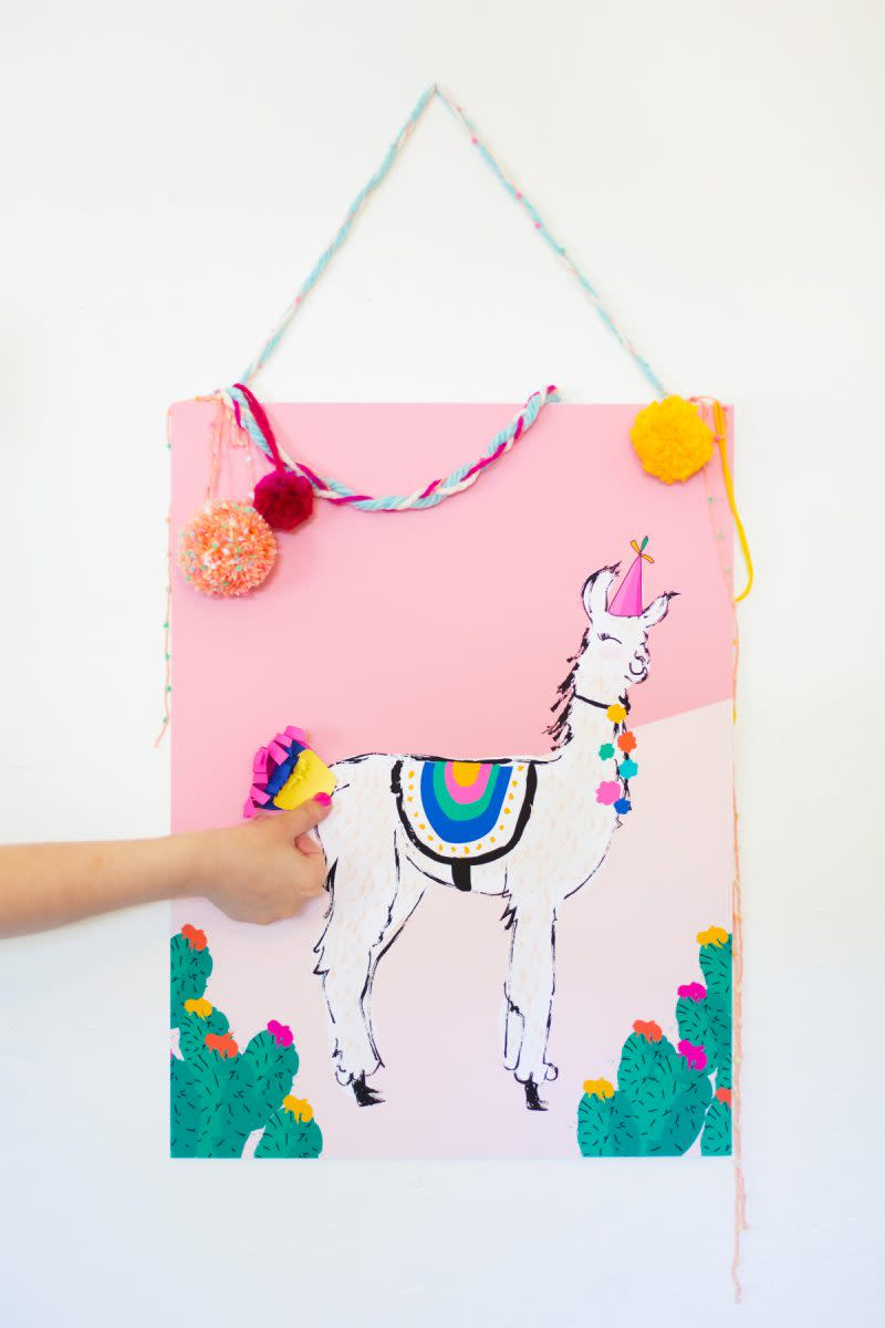 Pin The Tail On The Llama Game For Cinco De Mayo from lovelyindeed.com