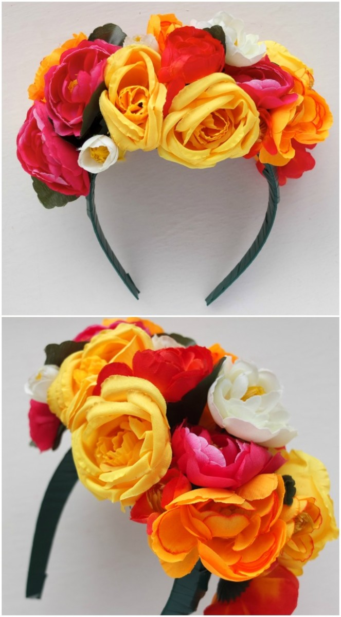 Frida Kahlo Inspired Floral Headband from mypoppet.com.au