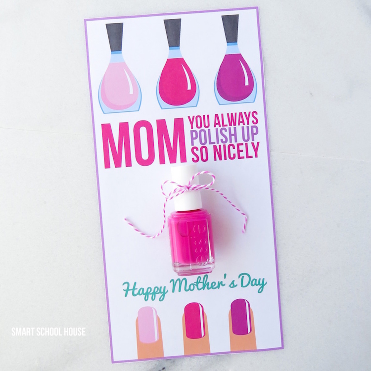 Nail Polish Mother's Day Card from smartschoolhouse.com