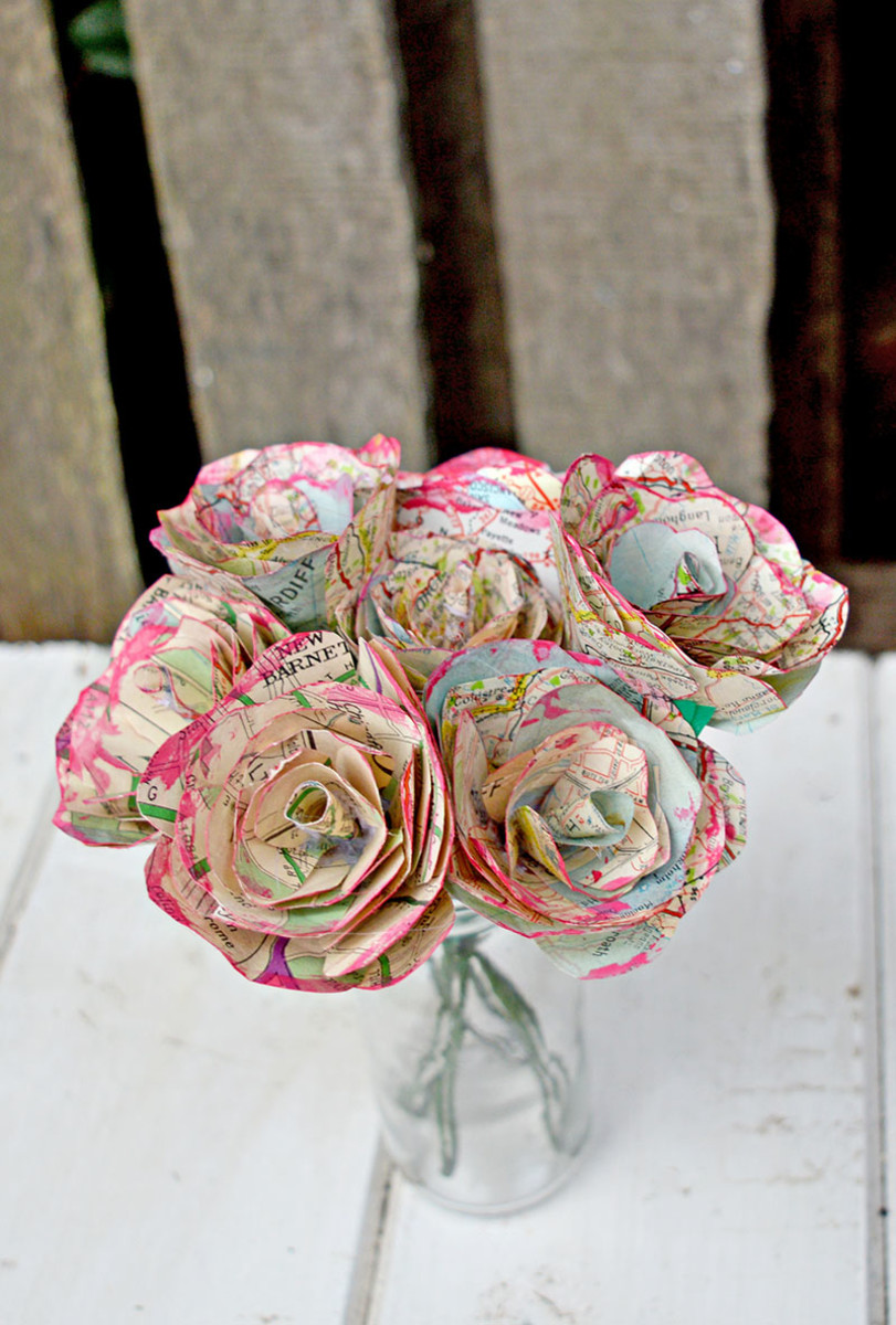 How To Make Simple But Beautiful Map Roses from pillarboxblue.com