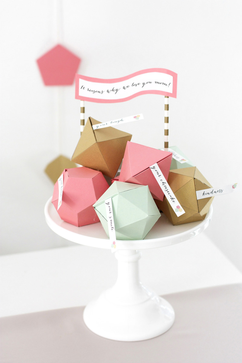 Geometric Mother's Day Surprise from kristimurphy.com