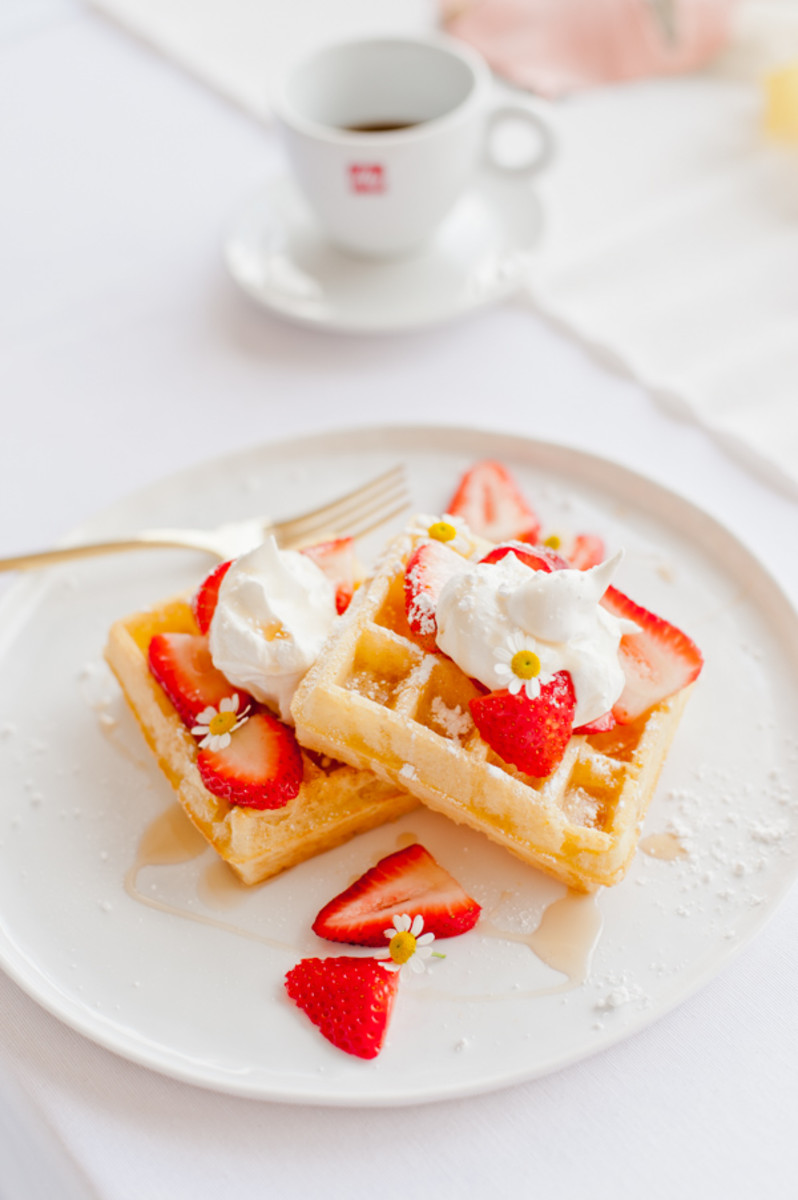 Coffee And Waffles Mother's Day Brunch Idea from papernstitchblog.com
