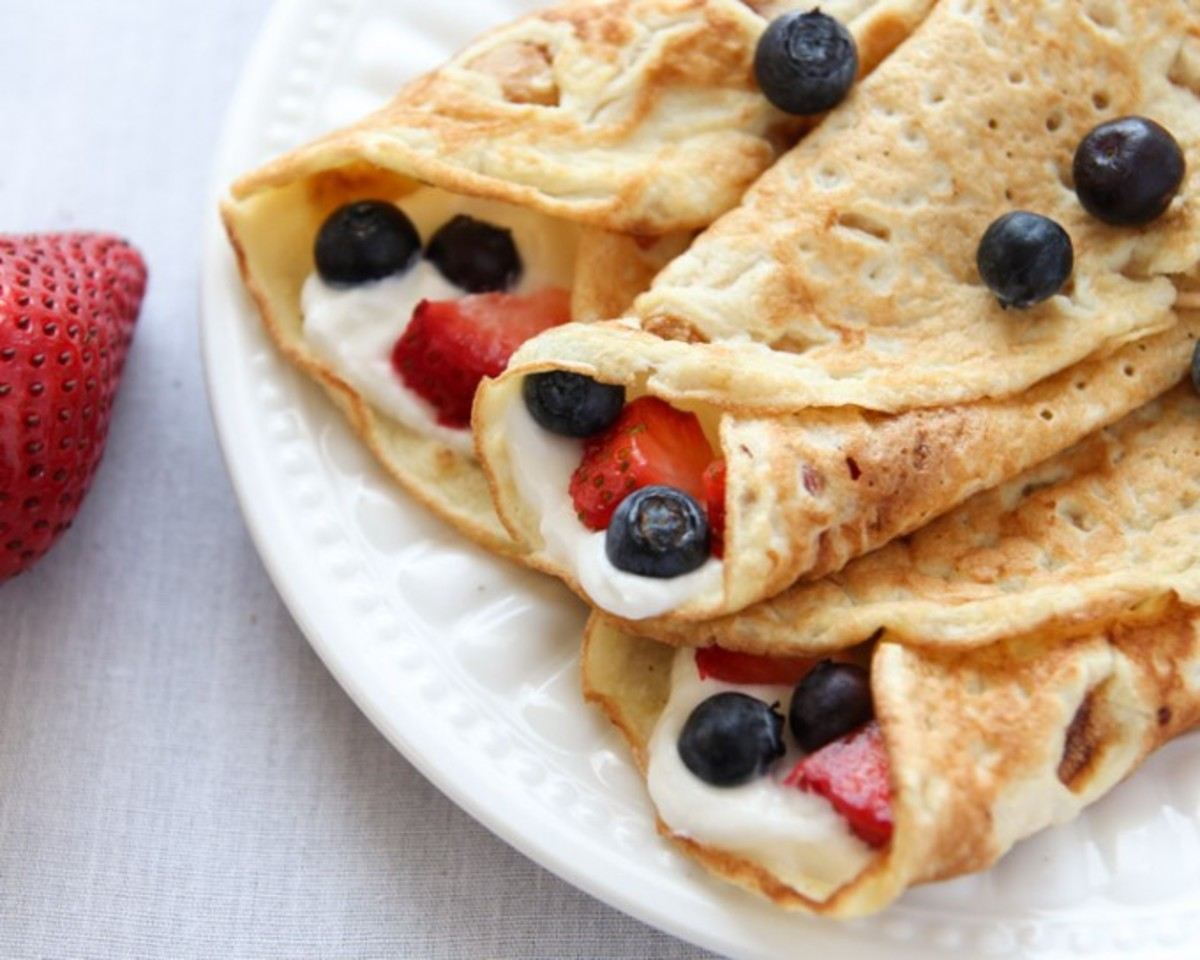 Coconut Flour Crepes from leelalicious.com