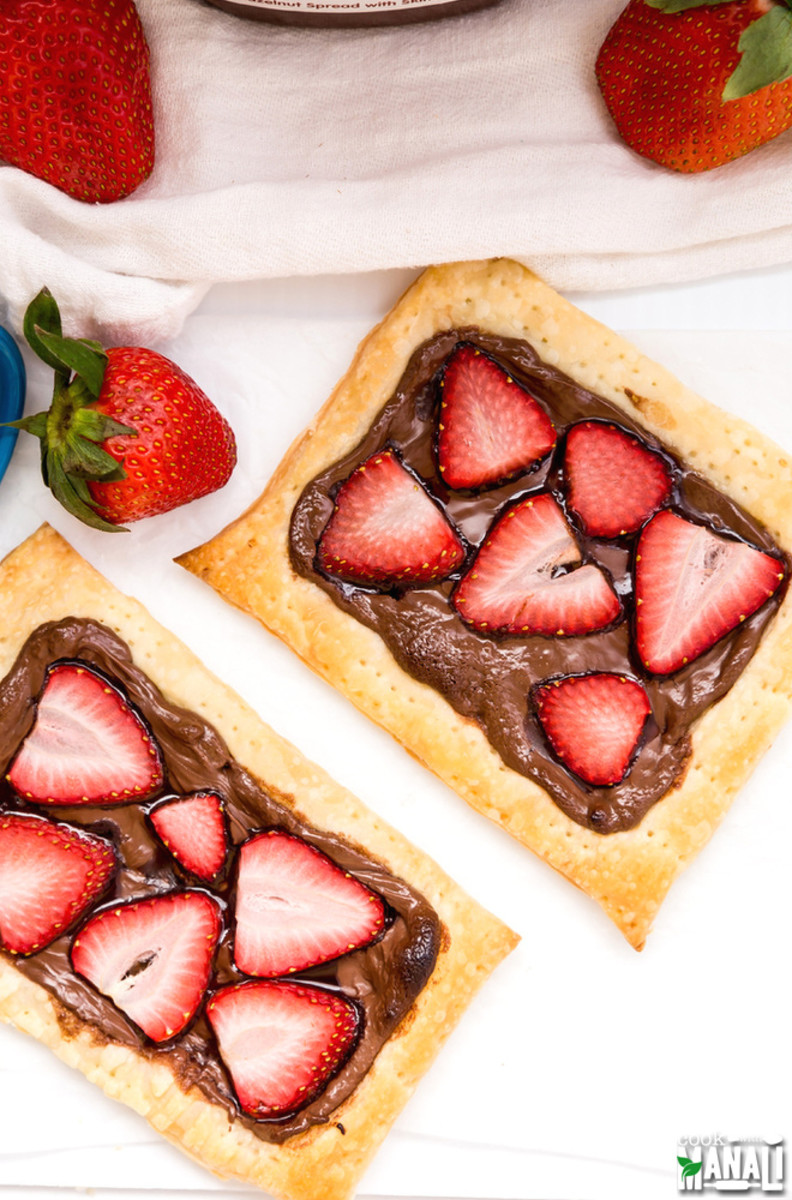 3 Ingredient Strawberry Nutella Tart from cookwithmanali.com