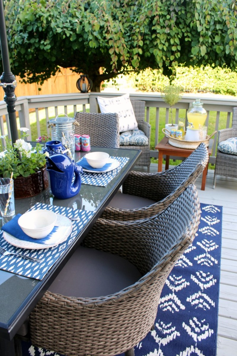 Summer Patio Ideas from cleanandscentsible.com