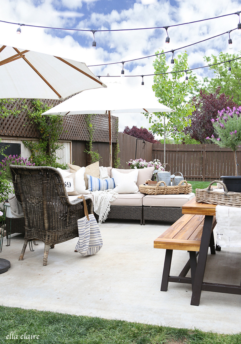 Summer Patio Makeover from ellaclaireinspired.com