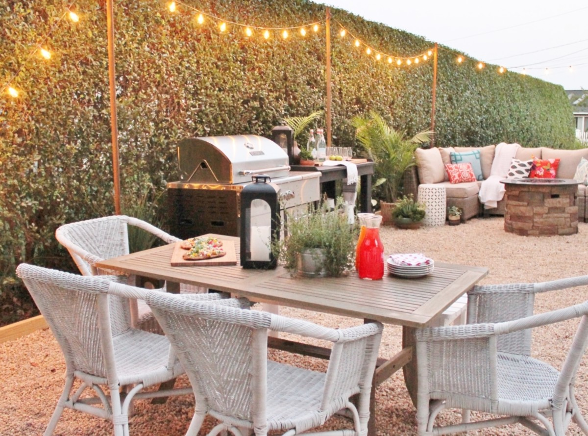 Create A DIY Pea Gravel Patio from cityfarmhouse.com
