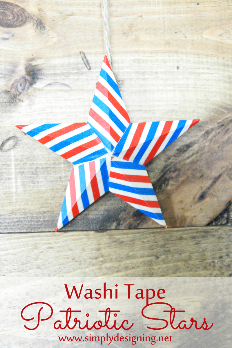 Washi Tape Patriotic Stars from simplydesigning.porch.com