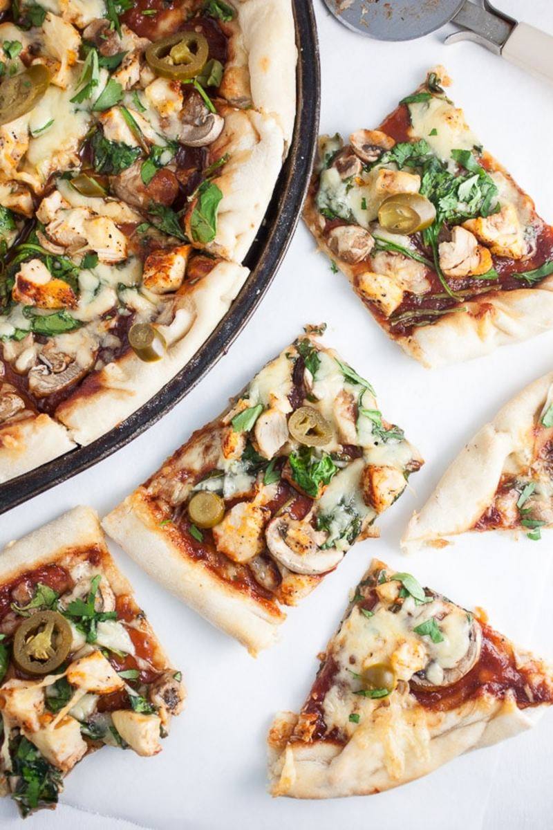Smoky BBQ Chicken Pizza from therusticfoodie.com