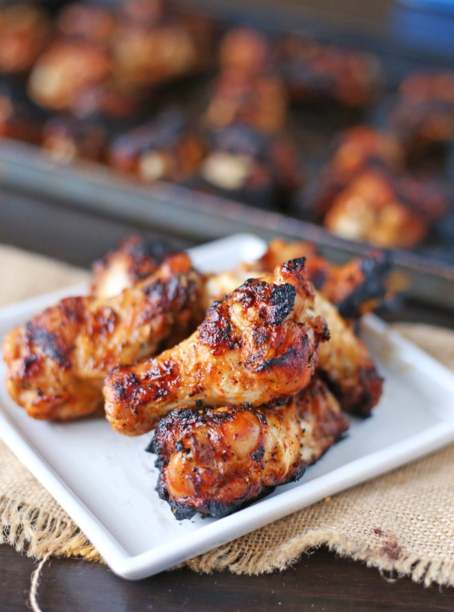 Chargrilled Chicken Wings Recipe from bsugarmama.com