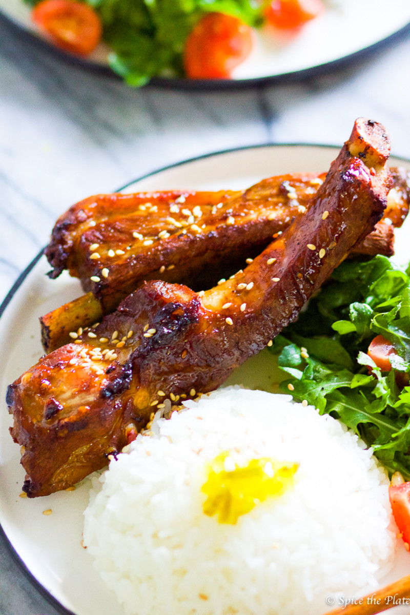 Baked Honey BBQ Baby Back Ribs from spicetheplate.com