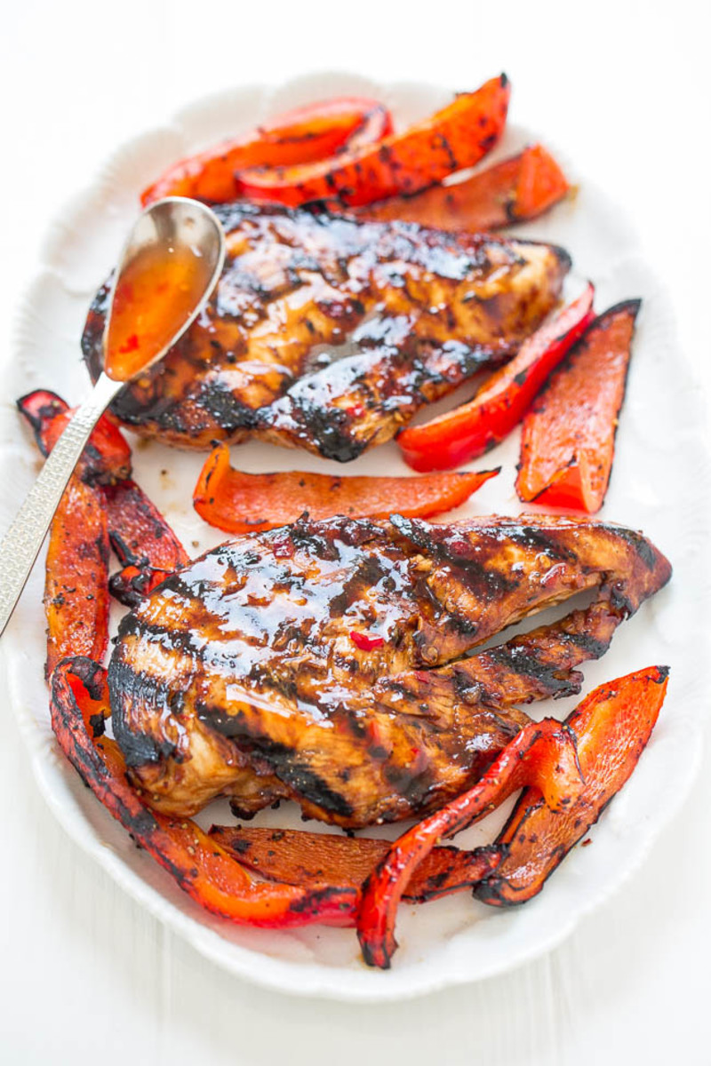 Sweet Chili Grilled Chicken from averiecooks.com