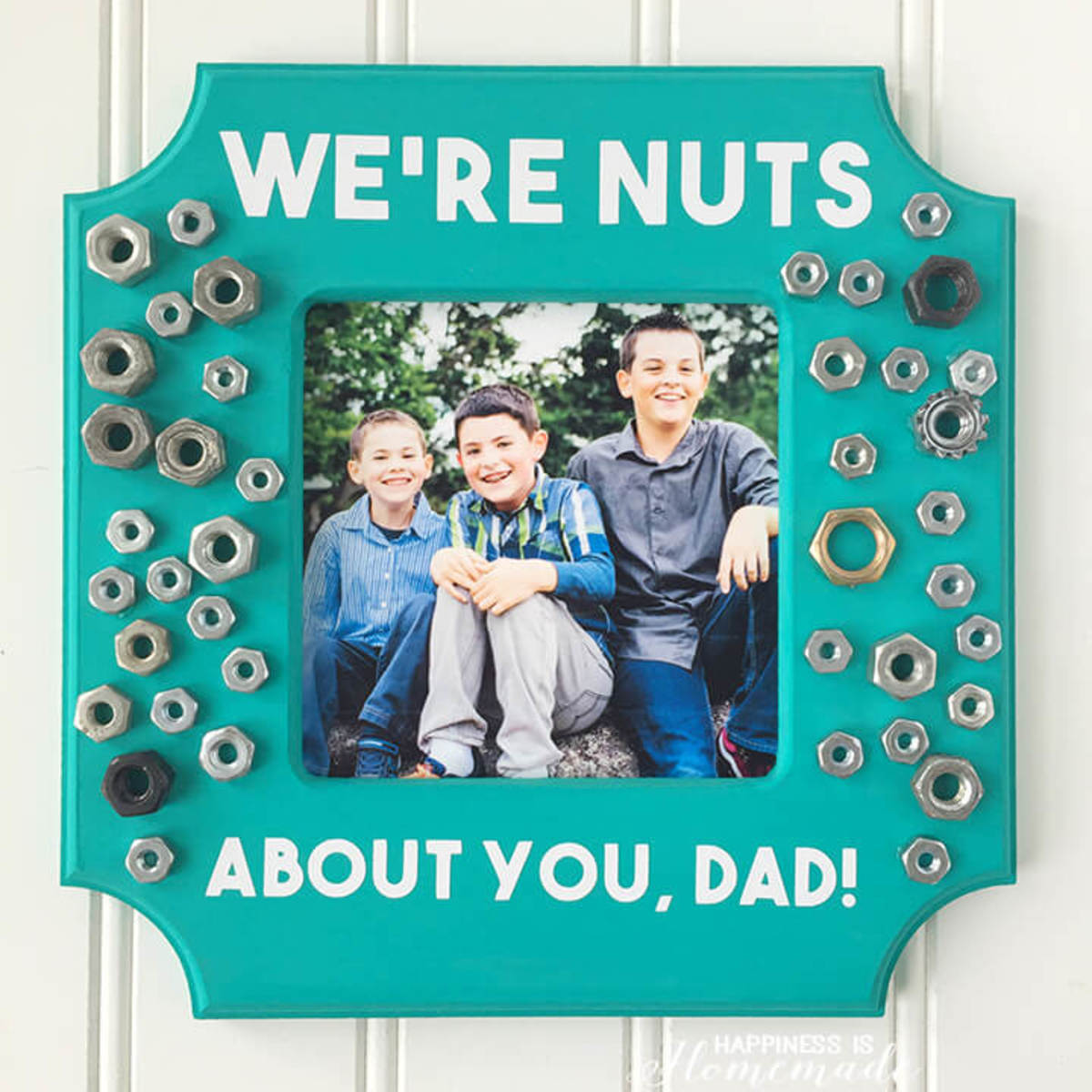 Father's Day Photo Frame Gift Idea from happinessishomemade.net