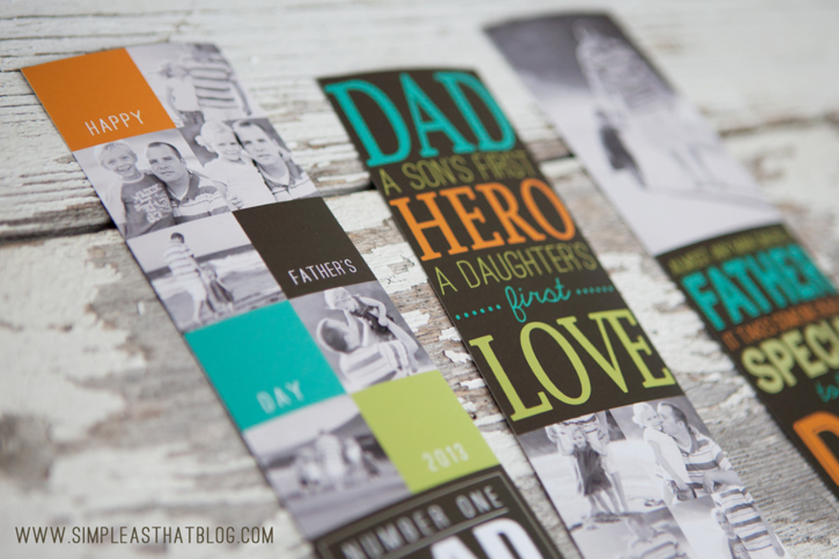 Personalized Photo Bookmarks For Dad from simpleasthatblog.com