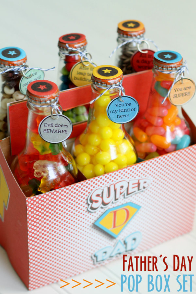 Father's Day Super Dad Pop Box Set from lilluna.com