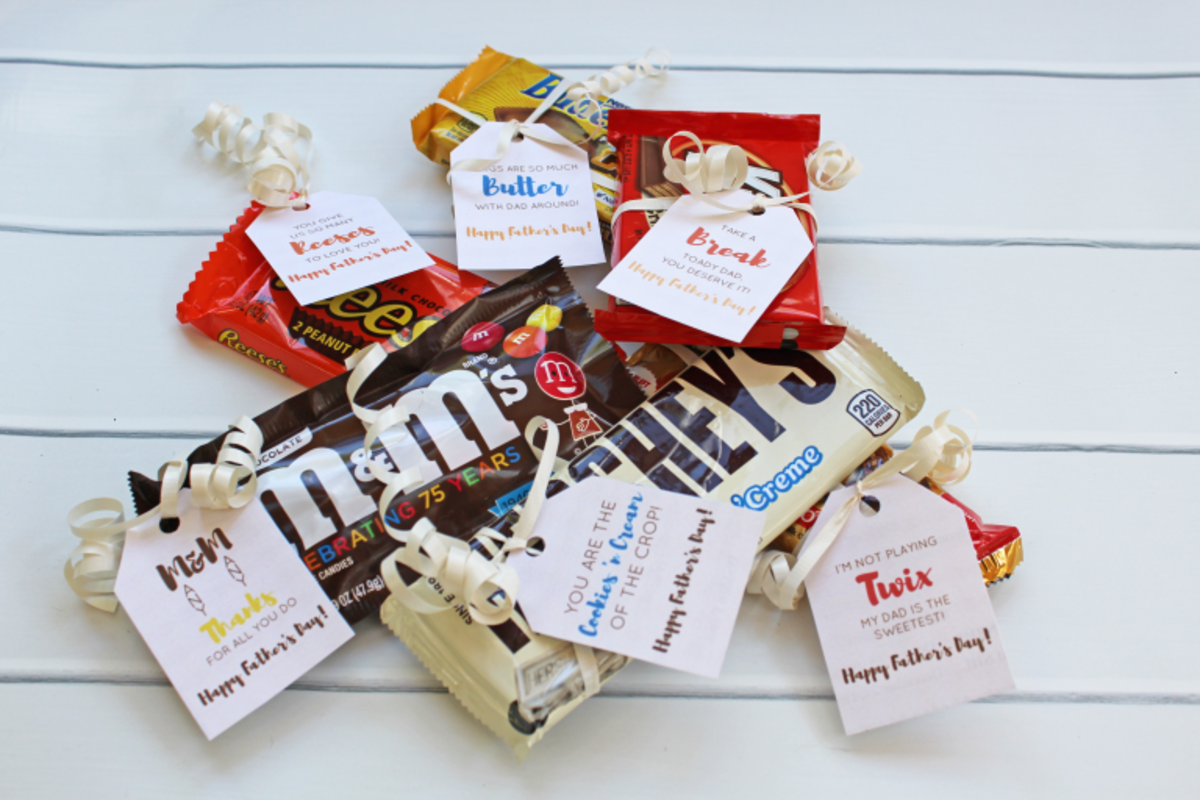 Free Printable Candy Tags For Father's Day from isshereally.com