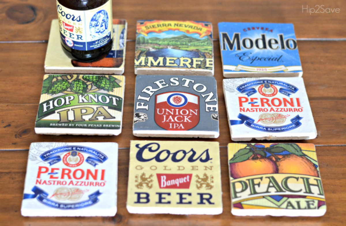 DIY Beer Coasters from hip2save.com