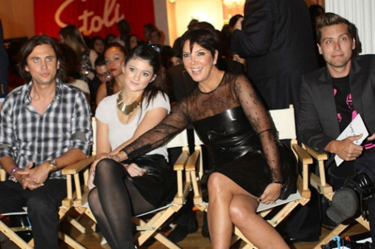 Kris Jenner, Kylie Jenner, Jonathan Cheban and Lance Bass at Tumbler and Tipsy Just Dance 4 Runway Show