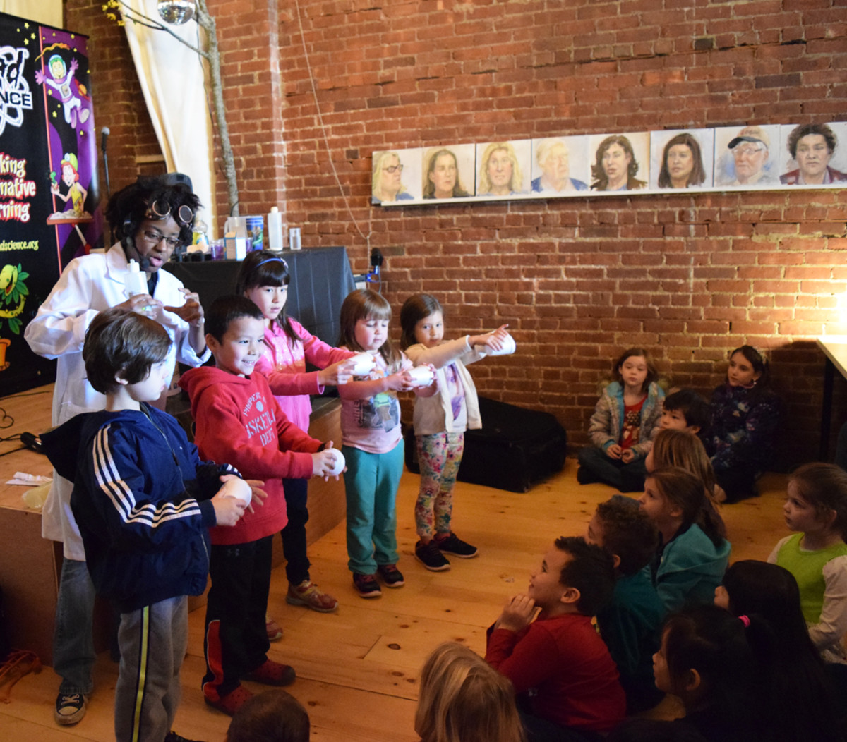 audience participation at Mad Science event