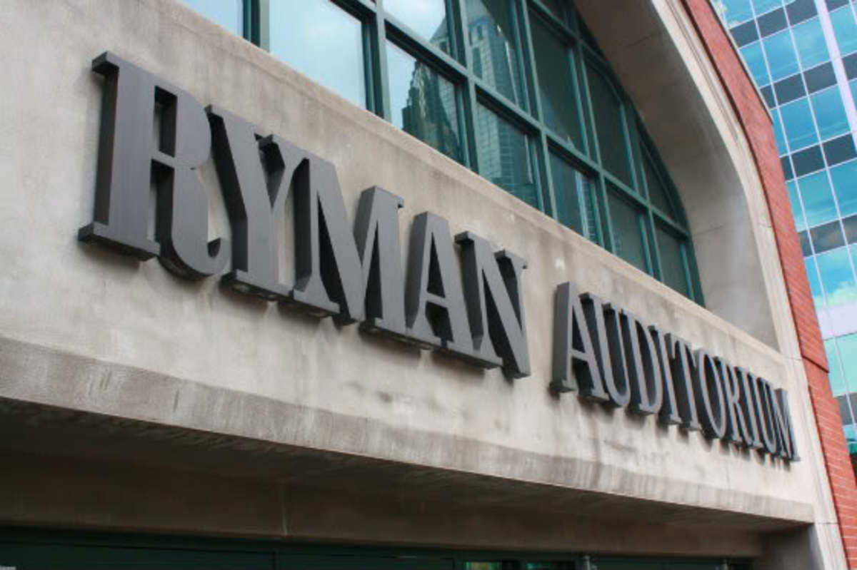 Entrance to Ryman Auditorium