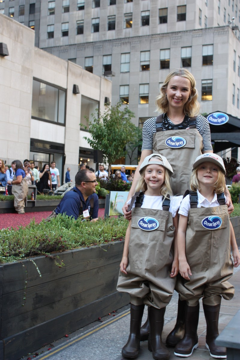 Getting ready to head into the Ocean Spray® cranberry bog in Rockefeller Center® to kick off the first day of fall in celebration of America's favorite fruit!