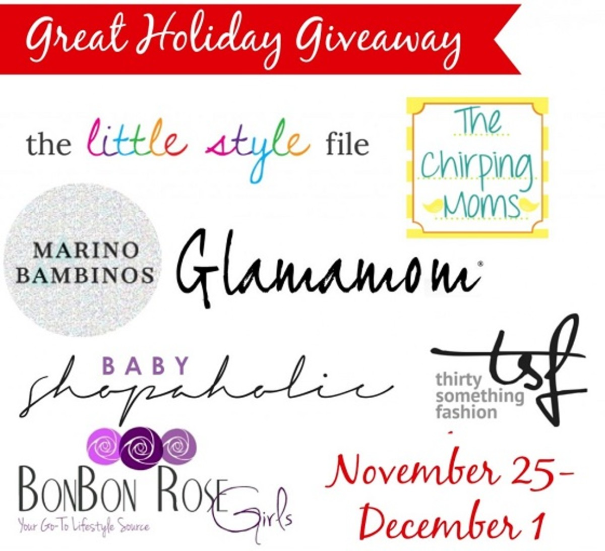 Great Holiday Giveaway Sponsors