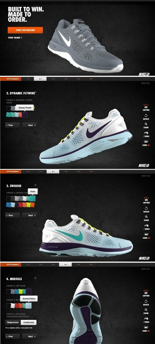 NIKE LunarGlide+ iD Customization Process