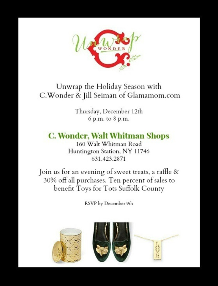 CWonder Walt Whitman Shops Holiday Invite