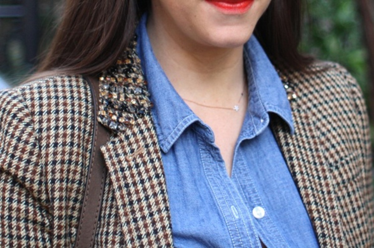 J.Crew Collection jeweled-collar schoolboy blazer