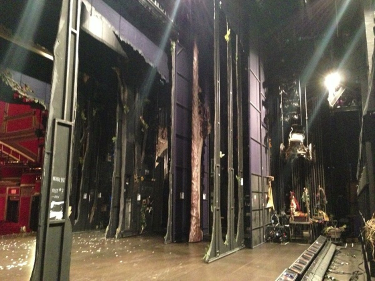 Backstage at Cinderella on Broadway