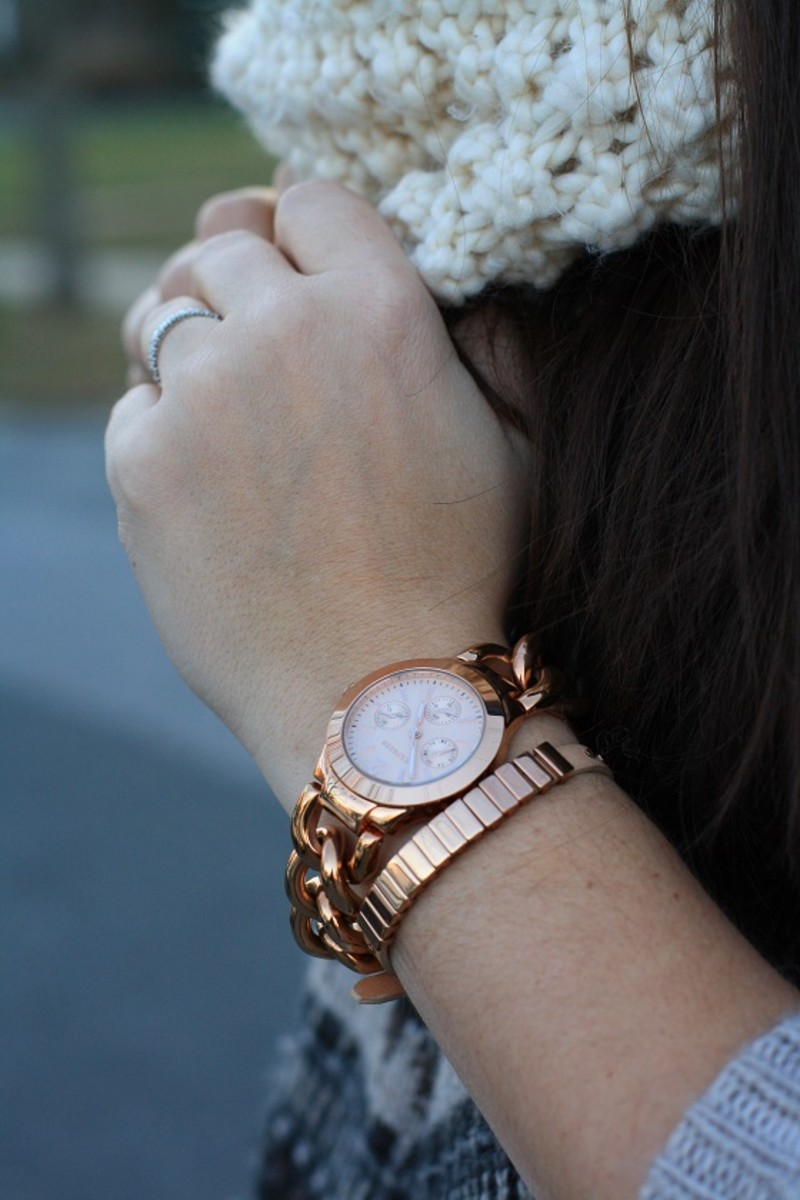 Express Rose Gold Watch