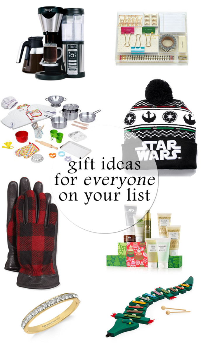 gift ideas for everyone on your list