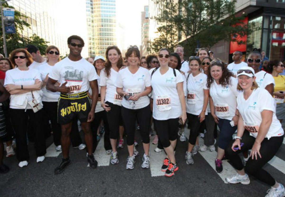 Team Jenny Craig Wall Street Association 2012 with Valerie Bertinelli