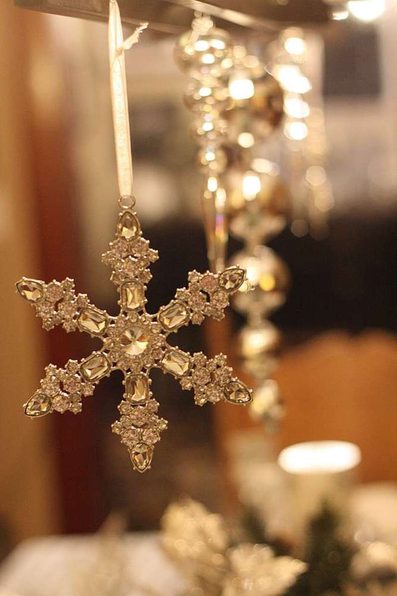 Glam Christmas - crystal ornaments as decor