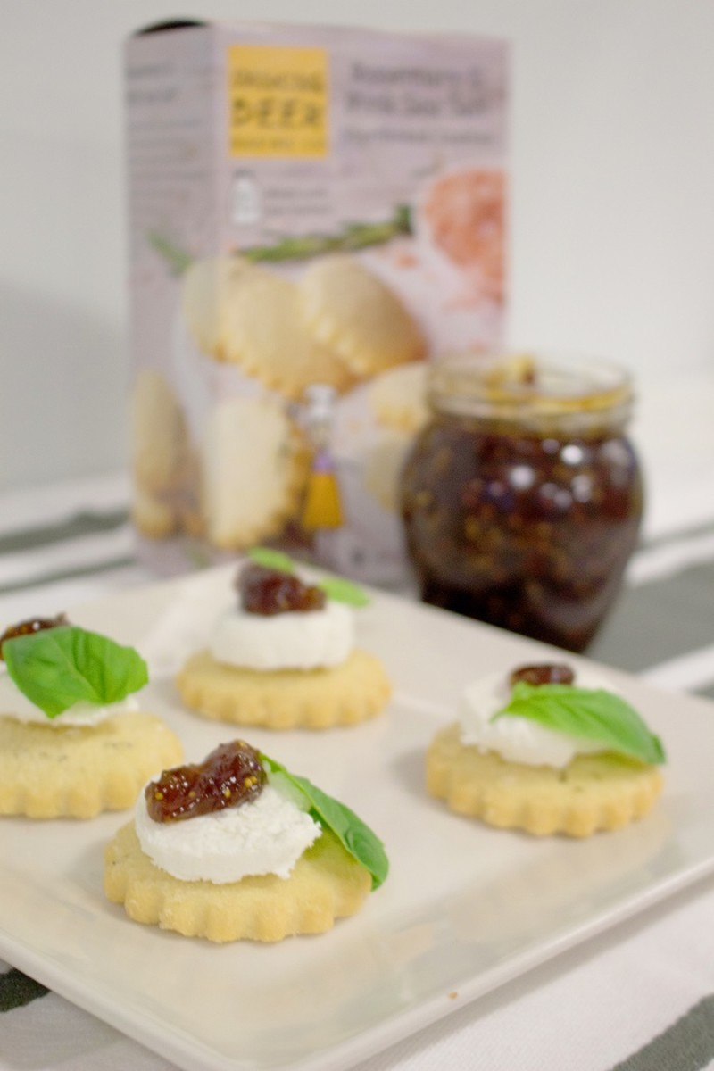 Rosemary Shortbread & Goat Cheese Appetizer