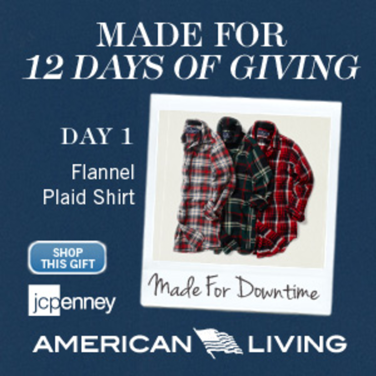 American Living Flannel Plaid Shirt