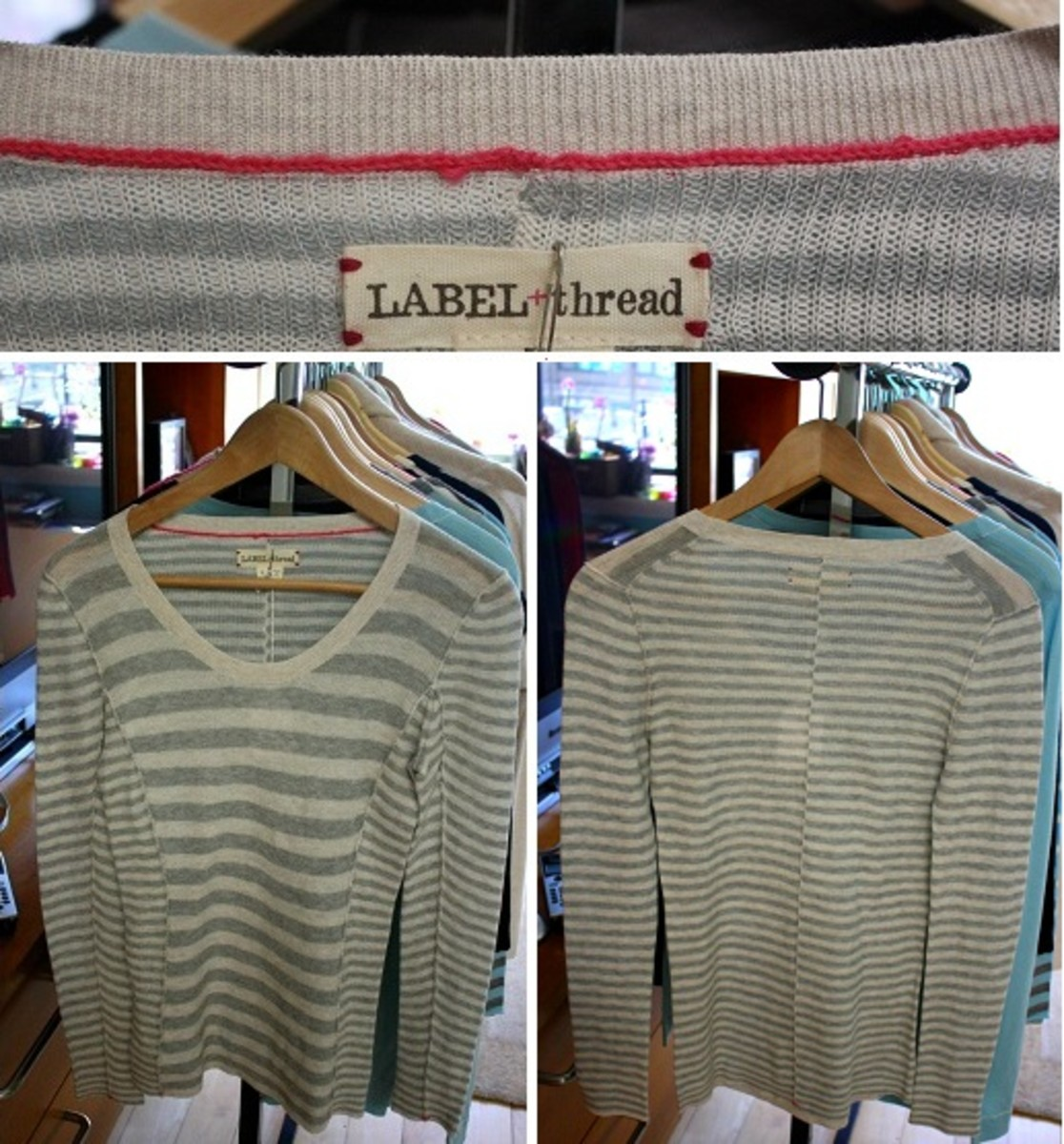 LABEL+thread Cotton Scoop Neck