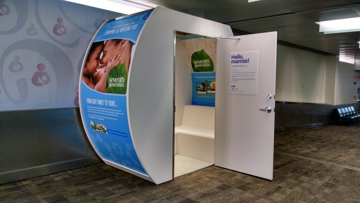 Seventh Generation Mamava Pod_Newark Airport