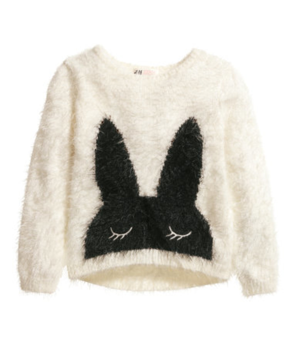 h&M bunny sweater