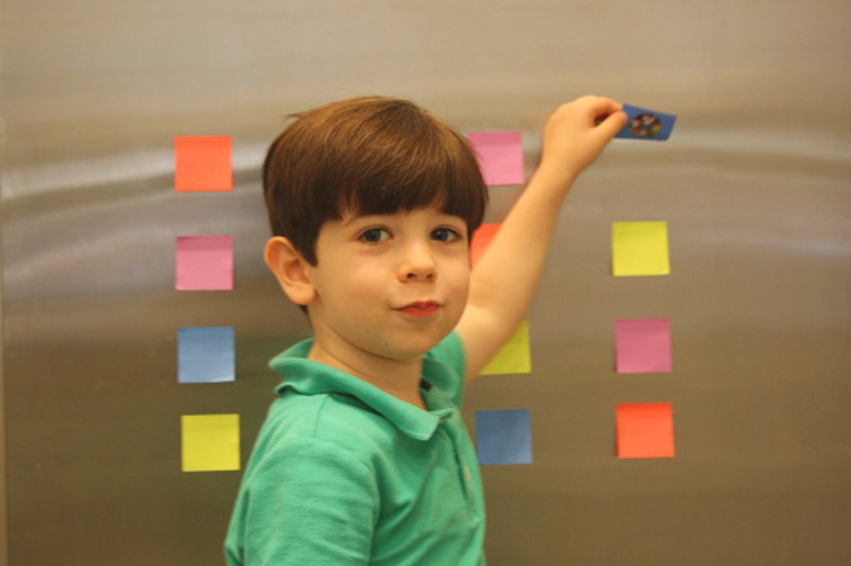 DIY Post It Notes Memory Game3